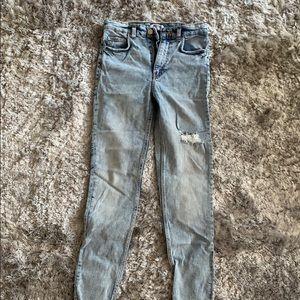 Zara Trafaluc  acid washed jeans Sz 4